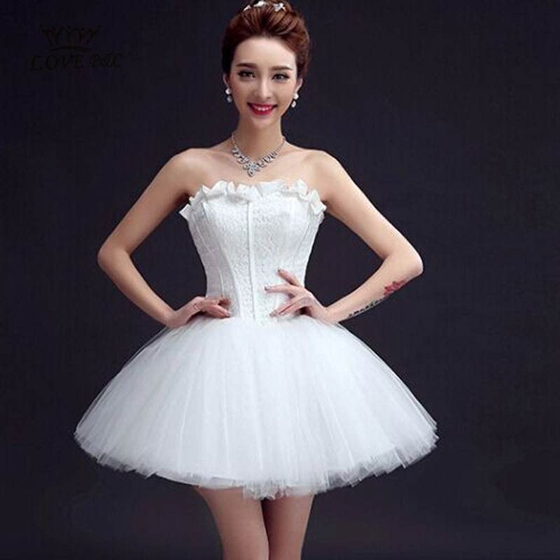 Cute Short White Wedding Dresses Of New White Short Wedding Dresses 2015 Cute Ball Gown Bride