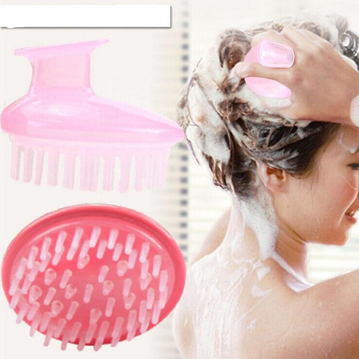 2Pcs/lot Japanese style quality wash hair brush cleaning brush massage head brush bath brush(China (Mainland))