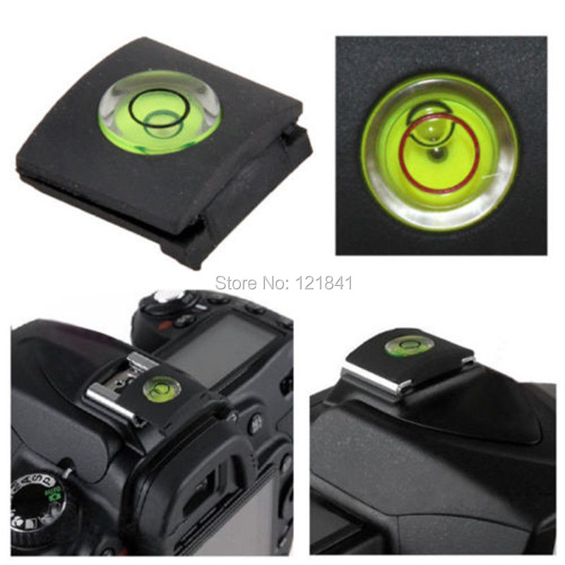 Camera Accessories Universal <font><b>DSLR</b></font> Camera Bubble Spirit Level + Hot Shoe Protector Cover for Nikon Canon Casio Fuji <font><b>Samsung</b></font>