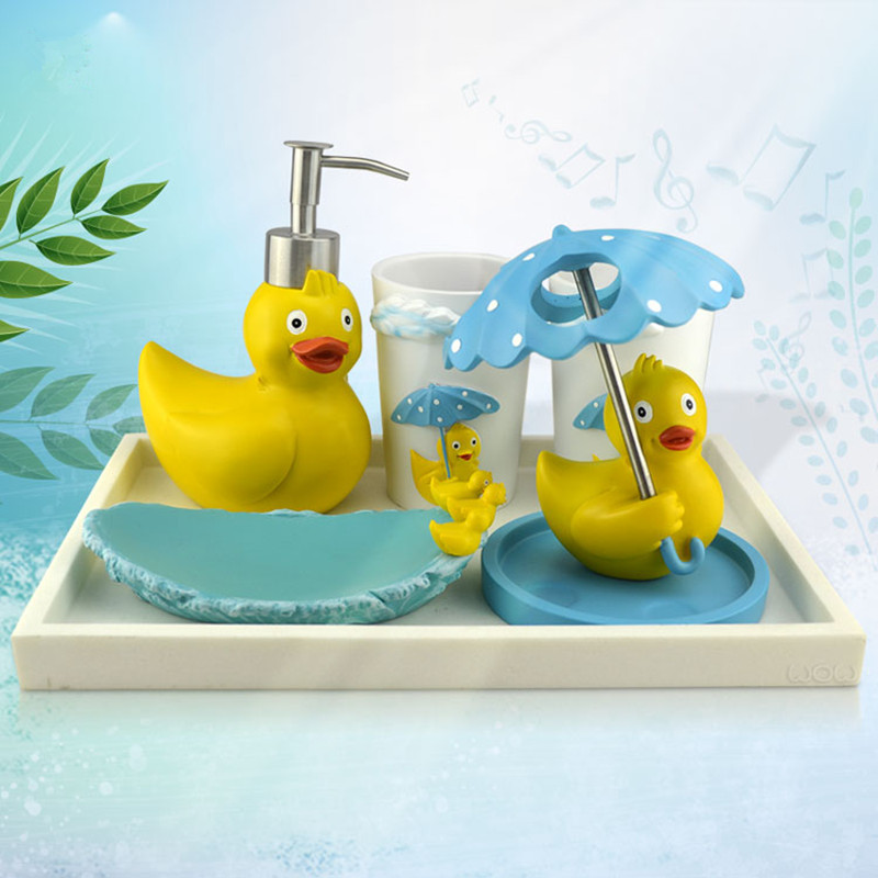 Rubber duck bathroom accessories