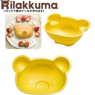 New! Big Size 6 inch carton Rilakkuma bear silicone cake mould/pudding and jelly /ice cream mold/promotinal gift(China (Mainland))