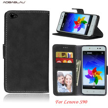 For Lenovo S90 Retro frosted skinSoft Leather For Lenovo S90 S90-t s90-u 5.0'inch Flip Slots Card phone case
