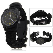 Buy JAVRICK Camo Paracord 555 Survival Watch Bracelet Compass Flint Fire Starter Kits for $4.49 in AliExpress store