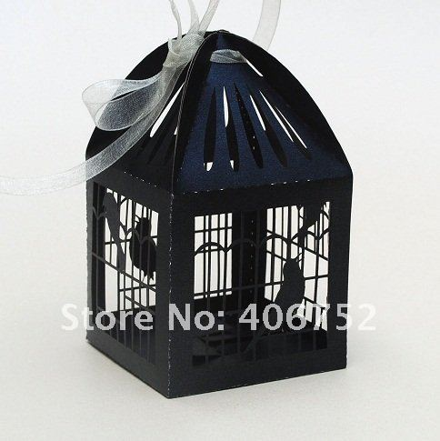 2013 hot model laser cut wedding party favors decoration paper love bird souvenir candy box for your special wedding(China (Mainland))