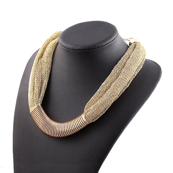 New 2014 Top Quality Brand Design Fashion Luxury Jewelry Necklace Gold Plated Charm Elegant Singapore Chain