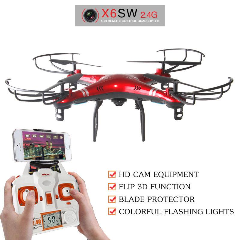 X6SW 2.4GHz 6Axis RC Quadcopter w/ HD C4005 Camera PFV WiFi Real-Time LCD 3Color