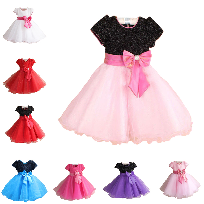 Hot Fashion Luxury 2016 New Princess Girl Dress Kids Baby Girl Dress Children Clothing Dress Girls Cosplay Applies 3-10 Age(China (Mainland))