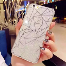 Luxury Diamond Bling Glitter Fashion Case for iPhone 6 Plus 6S Plus 5.5″ Soft TPU Cases Back Phone Cover Popular