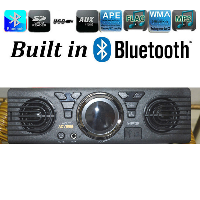 12v Car Radio Stereo MP3 Player Support Bluetooth Build in Double Speakers Horn Aux with USB SD FM AUX in 1 Din Auto Audio ZQC80(China (Mainland))