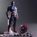 Captain America Action Figure Toys Play Arts Kai Collection Model Anime Captain America Playarts Toy Free