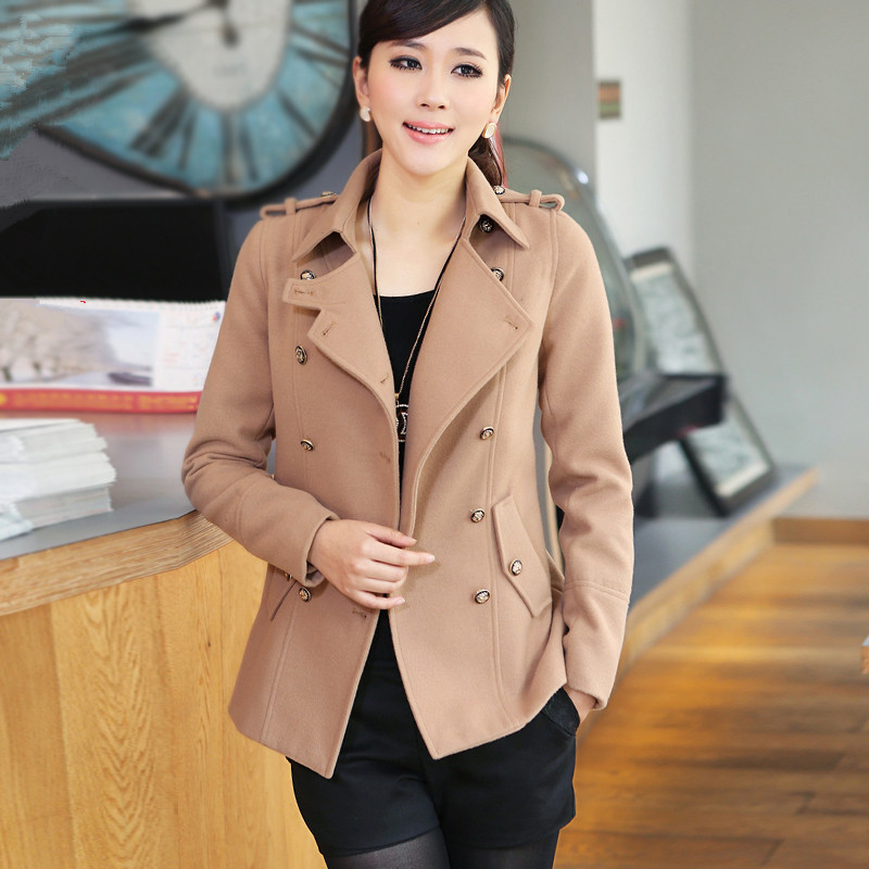 2014 new winter brand double breasted coat woolen coat Korean cultivating womens short coatОдежда и ак�е��уары<br><br><br>Aliexpress