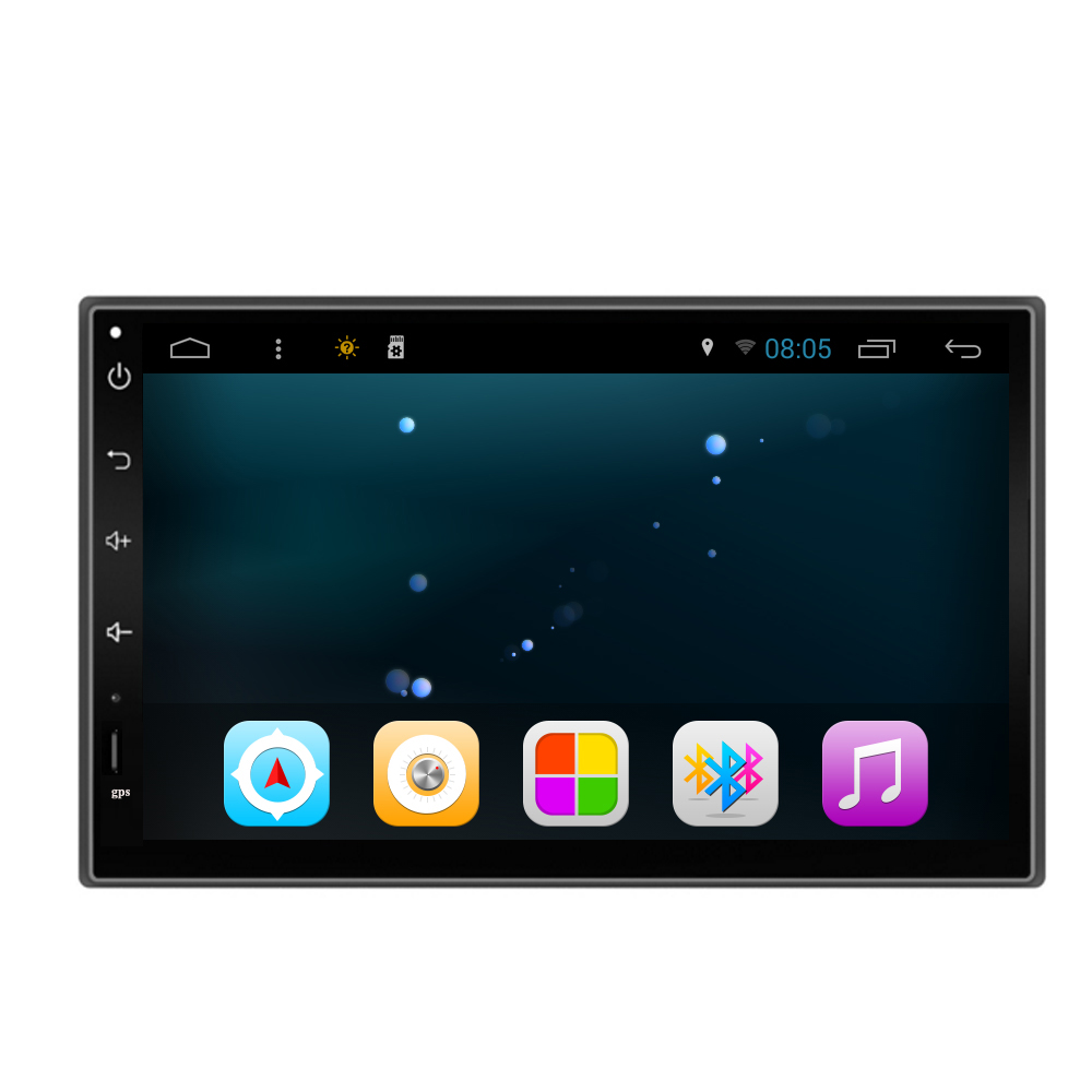C1060705A Quad Core 1024*600 Android 4.4 7inch 2 din 2 Car PC Tablet Universal GPS Navigation Radio Stereo Video Player( No DVD)(China (Mainland))