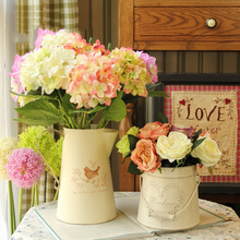 2 Types Fashion Retro Vintage Iron Tub For Home Table Decoration Flower Vase Pot Wedding Decoration European Style(China (Mainland))