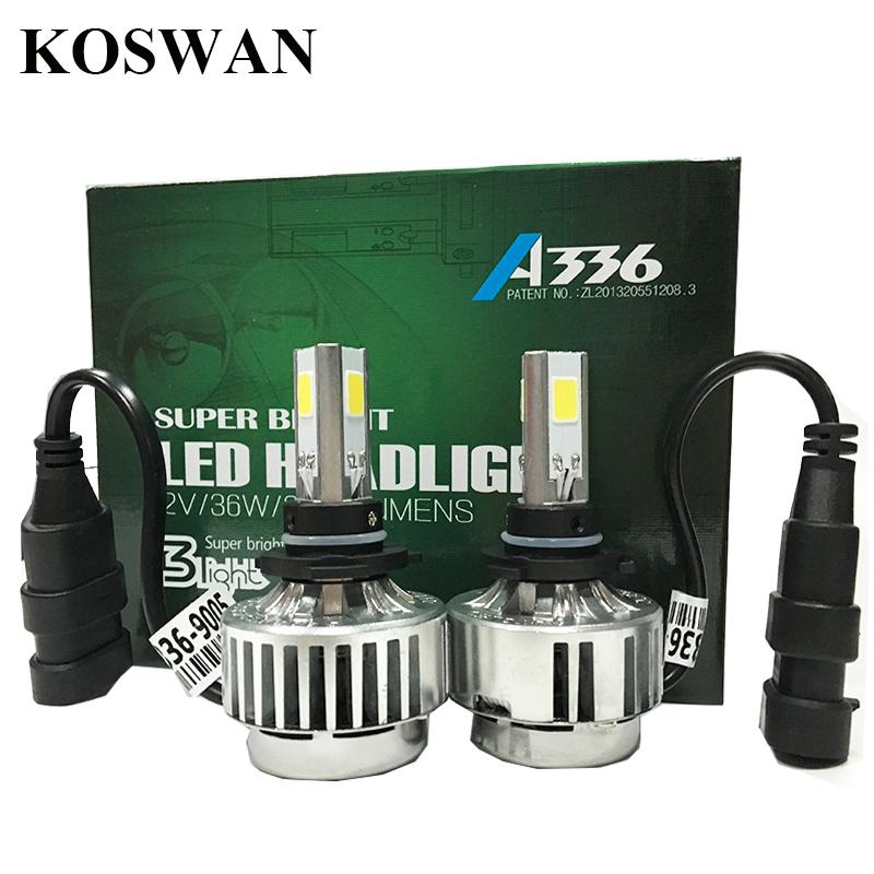 All In One Car LED Headlight 9005 HB3 White 12V 3300LM COB Quality Chip Super Bright 9005 LED Headlight Bulb 36W LED Head Lamp(China (Mainland))