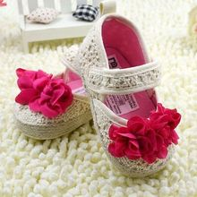 0-18 Months Baby Girl White Soft Sole Toddler Shoes Sneaker Prewalker(China (Mainland))