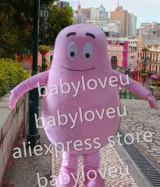 pink BARBAPAPA Mascot Costume custom fancy BARBAPAPA costume anime cosplay kits mascotte theme fancy dress carnival costume(China (Mainland))