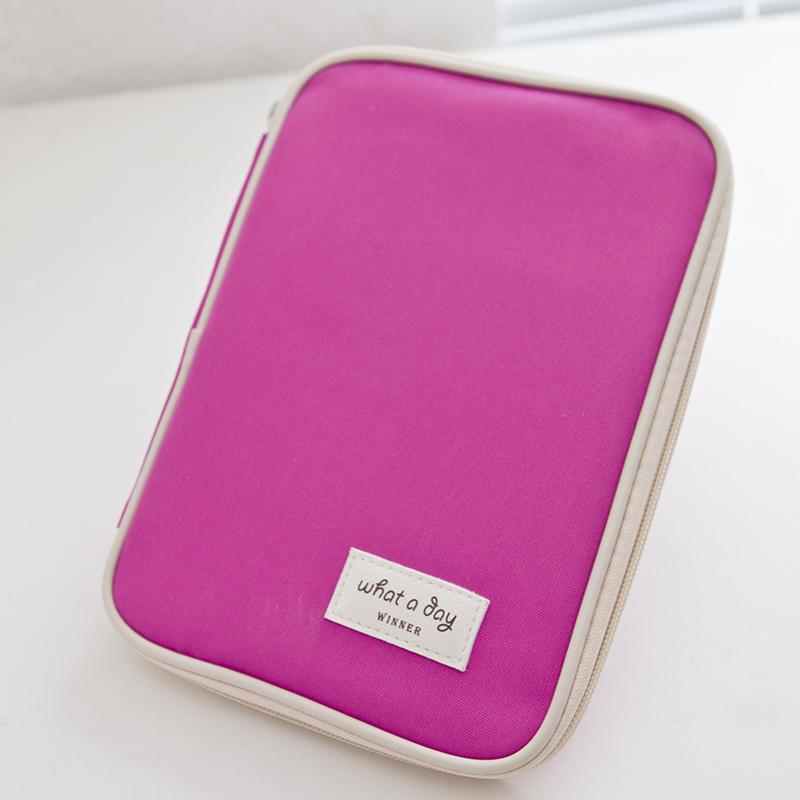2015 New!6 candy colour Travel set cute brand mini Ipad ID holder credit card organizer bag large travel wallet passport holders(China (Mainland))