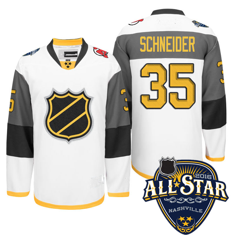 Newest! Mens Stitched  White #35 Cory Schneider  Ice Hockey 2016 All Star Jersey Size M-XXXL with New Jersey Devils patch<br><br>Aliexpress