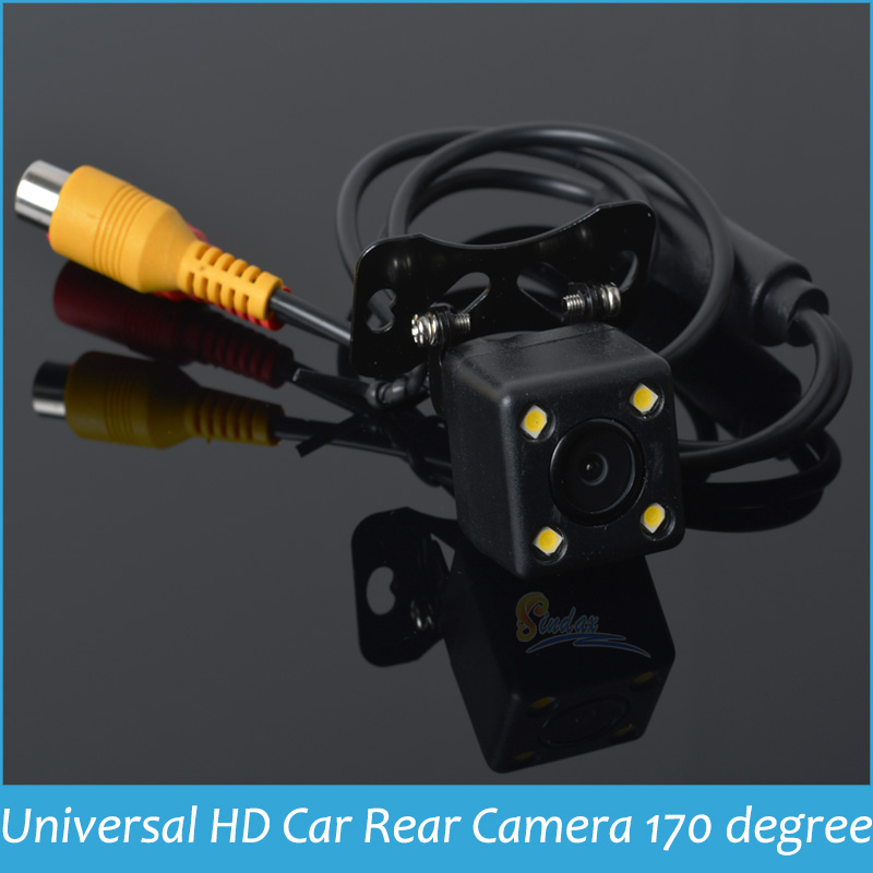 Rear View Camera Parking Assistance Rear Camera HD CCD 4 LED Night Vision Car Backup Side Camera 170 wide angle waterproof(China (Mainland))