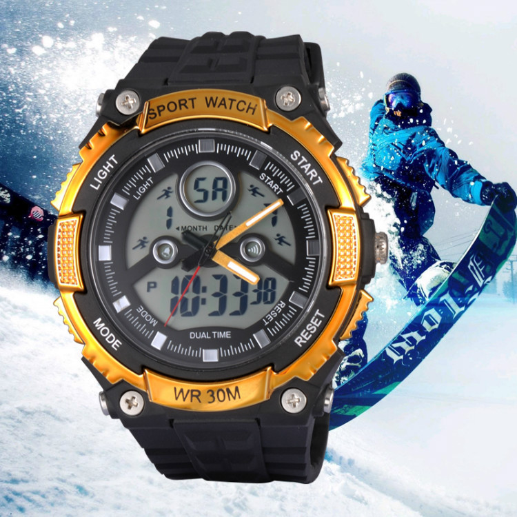 classic luxury waterproof sports watches for man+women fashion dual time hikking watches+unisex promotion gift led wristwatches<br><br>Aliexpress