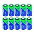 10Pcs PKCELCR123A Battery CR17345 1500mAh 3V Lithium Photo Battery Batteries Bateria Baterias