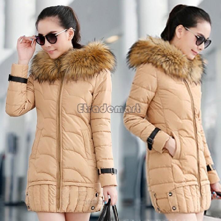 Women's New Fashion Winter Faux Fur Hood Down Coat Long Slim Jacket Thicken Warm Parka b6 CB030683