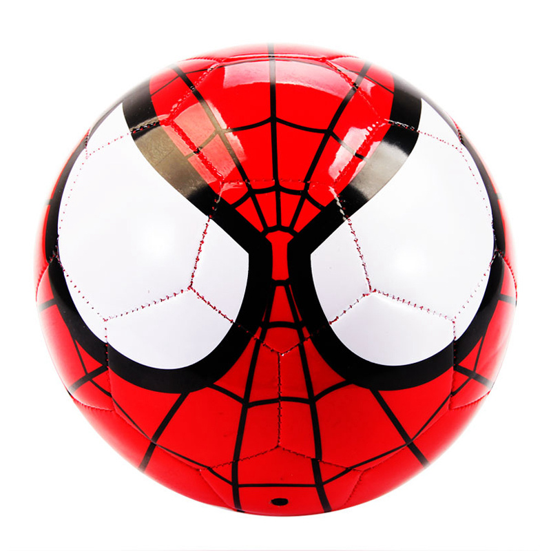 Christmas Gift New Designe Children 3# 4# 5# Football Ball Kids PVC Soccer Balls Football Boys Super Hero Footballs(China (Mainland))