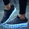 Lovers Lighting Shoes For Men And Women Adult LED USB charging Flat Footwear Fashion Casual Glow
