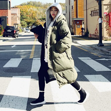 Women Winter Jacket And Coat Manteau Femme Cotton Padded Plus Size Black Ladies Clothing Oversize Army Green Down Parka MF74852(China (Mainland))