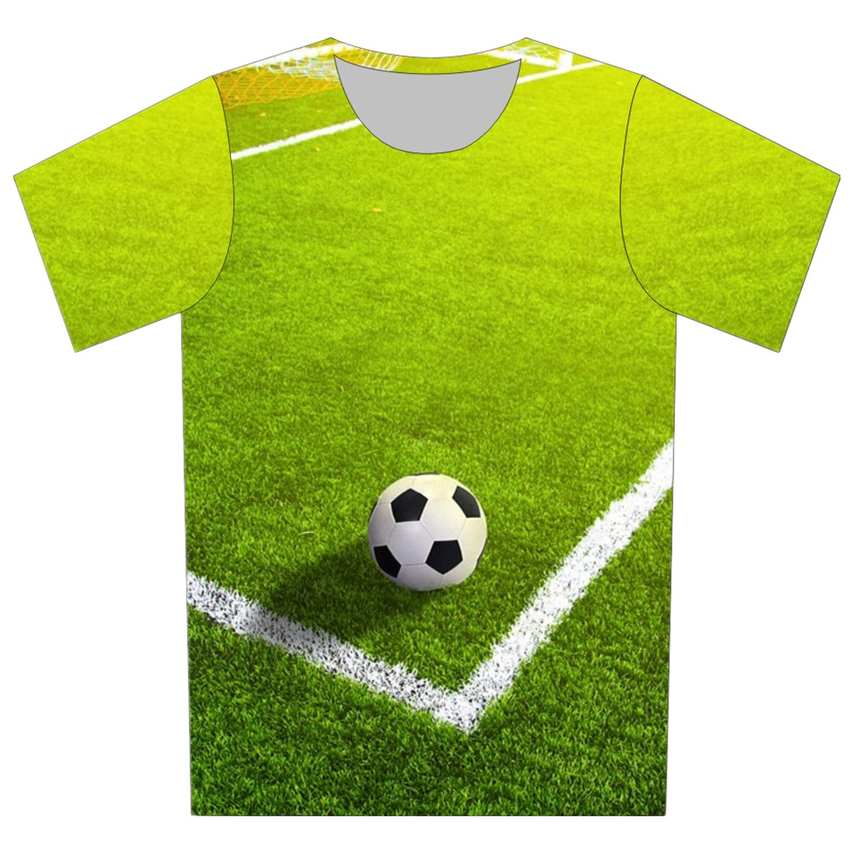 new 2016 children 3d t shirt cartoon cup football tennis bowling ball print cool t shirt girl. Black Bedroom Furniture Sets. Home Design Ideas