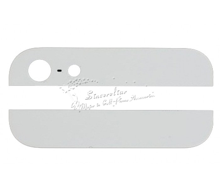 Top & Bottom Glass Replace For iPhone 5 Cover with Camera Lens & Flash Diffuser Black/White(China (Mainland))