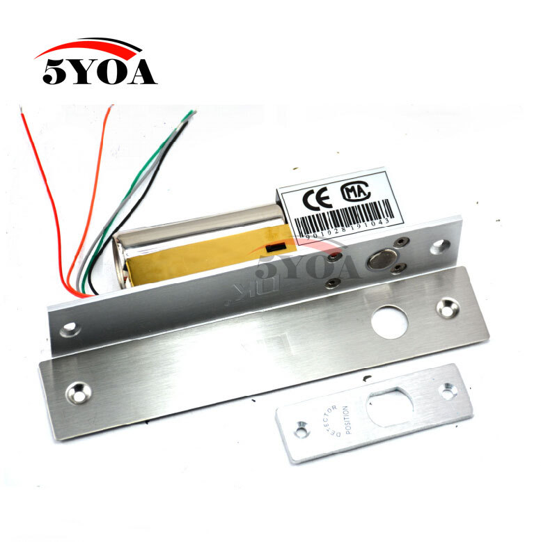 Electric Bolt Lock 5-Lines Low Temperature DC 12V Stainless Steel Heavy-duty Fail-Safe Drop Door Access Control Security(China (Mainland))