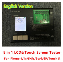 Newest 8 IN 1 LCD Touch Screen Tester Frame Machine Built In Rechargeable Battery For iPhone 4 S 5 5S 5C 6 6Plus ITouch 5(China (Mainland))