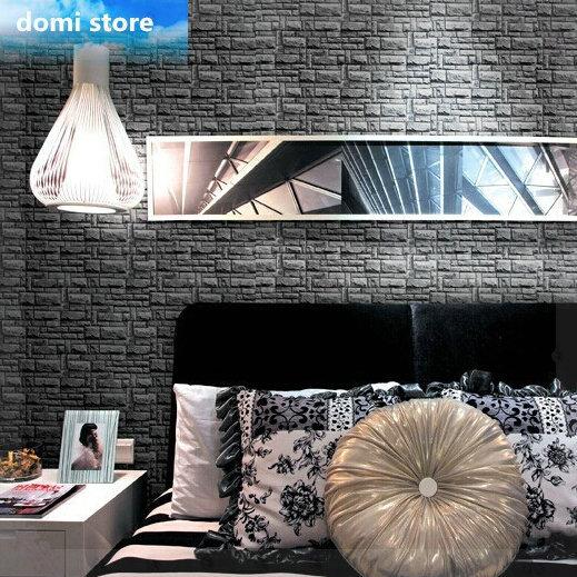 3D papel de parede de pedra tijolo fundo do projeto vinil papel de parede moderno para sala de estar papel de parede R222 verde chão do banheiro(China (Mainland))