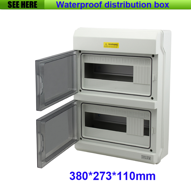 Top Grade PC Material IP67 Outdoor Waterproof Distribution Box 24Way Electrical Power Distribution Box 380*273*110mm<br><br>Aliexpress