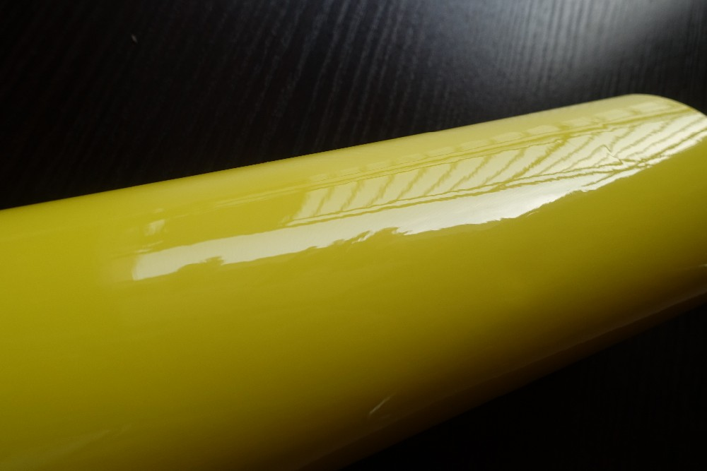 3 layers ultra glossy car wrapping film lemo yellow car wrapping film 3M 1080 HEXIS FOILE STICKERS (3)