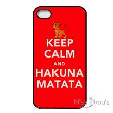 Keep Calm and hakuna matata Quotes back skins mobile cellphone cases for iphone 4/4s 5/5s 5c SE 6/6s plus ipod touch 4/5/6