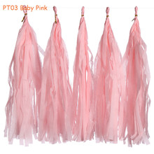 Buy 14inch 3packs (5pcs/pack) Baby Pink Hanging Tissue Paper Tassel Garland Wedding Birthday Party Baby Shower Decorations for $4.40 in AliExpress store