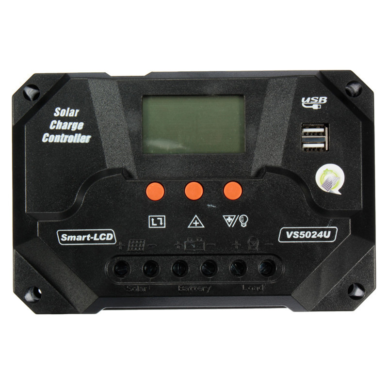 12/24V 50/60/80A PWM Solar Panel Battery Regulator Charge Discharge Controller With LCD Display USB<br><br>Aliexpress
