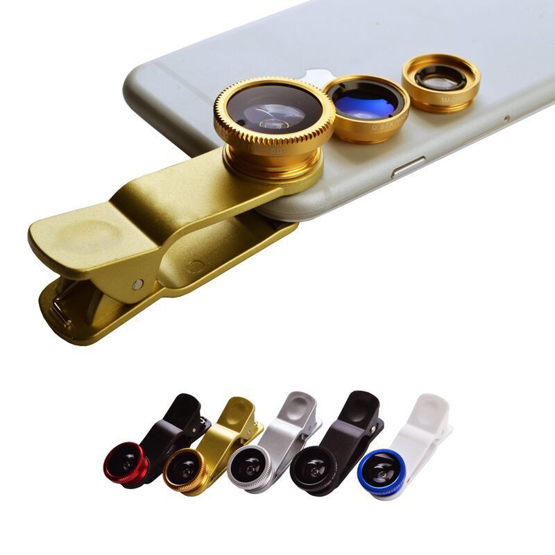 3 In 1 Mobile Phone Macro Fish Eye Lens Universal Wide Angle Lens for iPhone 4S 5 5C 5S 6 Plus Samsung Galaxy S3 S4 S5 -T01