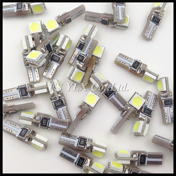 T5 5050 SMD T5 Car Auto LED Bulbs Wedge Base T5 Dashboards indicator light Gauge bulbs Canbus error free Car auto lights