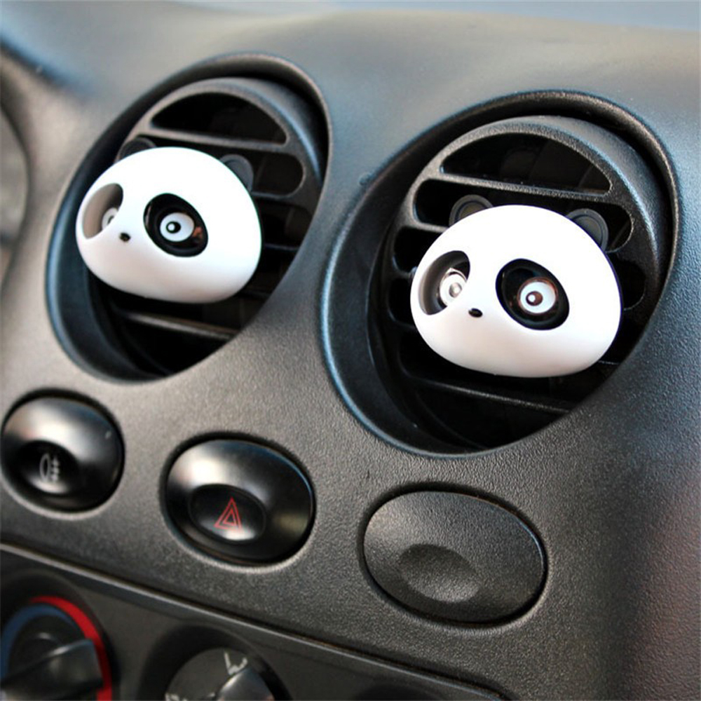2 Pcs Car Perfume Auto Air Freshener Mini Panda Perfume Cologne Ocean Car Smell Fragrance Perfumes 100 Original(China (Mainland))