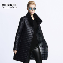 MIEGOFCE 2016 New spring jacket women winter coat women's clothing warm outwear Cotton-Padded long Jacket coat Slim trench coat(China (Mainland))