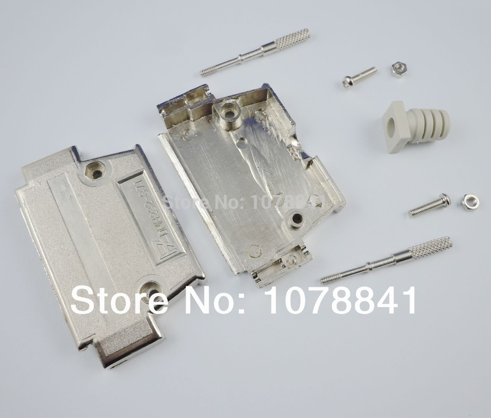 20 Pcs Per Lot Metal Backshell Cover Housing Hood For D-SUB 62 Pin Connector With Hardware<br><br>Aliexpress