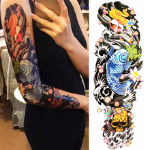 Buy NU-TATY Long Sleeve Temporary Tattoo Body Art, Fancy Carp, Flash Tattoo Sticker Keep 3-5 days Waterproof 48*17cm Tattoo for $1.22 in AliExpress store