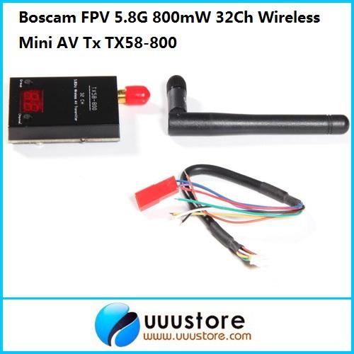 Фотография Boscam FPV 5.8G 5.8Ghz 800mW 32Ch Wireless Mini AV Transmitter TX58-800 | RP-SMA, jack