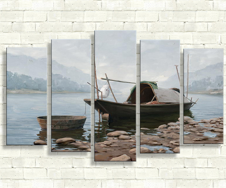 5 piece canvas art lighthouse frameworks christmas landscape modern art painting wall painting abstract african paintings(China (Mainland))