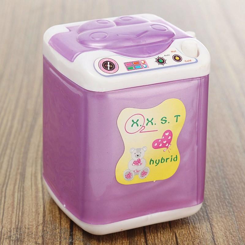 New Dollhouse Wind Up Washing Machine Laundry Mini Washer Princess Dolls Room Furniture Accessories Children Kid Girls Toy(China (Mainland))