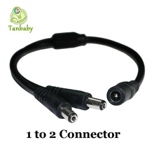 Tanbaby 1 DC female to 2 ,3,4,6,8 male connector wire DC power Power Splitter Adapter Cable LED DC Connector for LED Strips Pack(China (Mainland))
