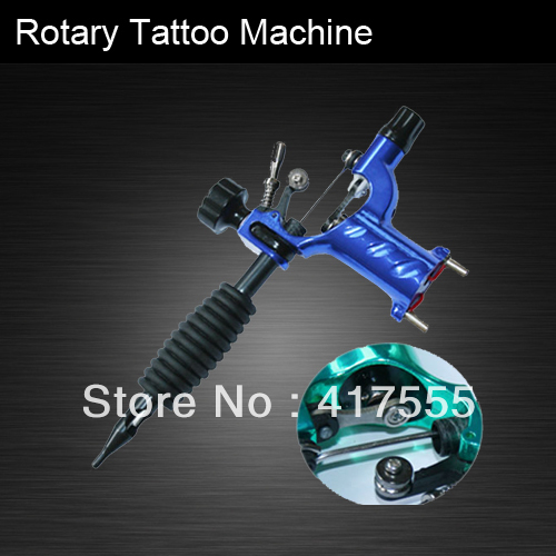Dragonfly Rotary Tattoo Machine Shader & Liner Blue Color Tatoo Motor Gun Supply For Artists - Free Shipping(China (Mainland))